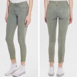 Mother Denim High Waisted Looker Ankle Fray Sz 27